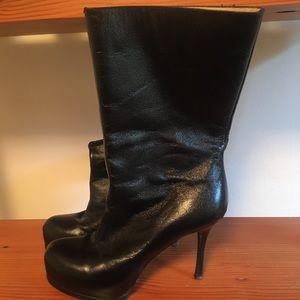Yves Saint Laurent Shiny Boots